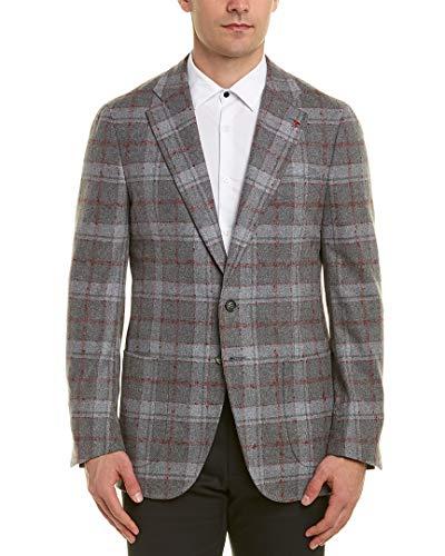 Isaia Wool - Isaia Mens Wool-Blend Sport Jacket, 46 8R