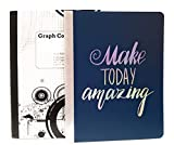 ''Make Today Amazing'' Blue Notebook and 5 x 5 Graph Notebooks ~ Pack of 2