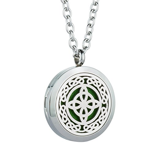 Essential Oil Diffuser Necklace Aromatherapy Locket Magnetic Closure Pendant Jewelry Sets 24