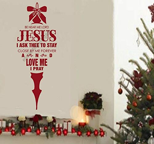 Be Near Me Lord Jesus Christmas Decor Vinyl Decal Stickers Wall Lettering -