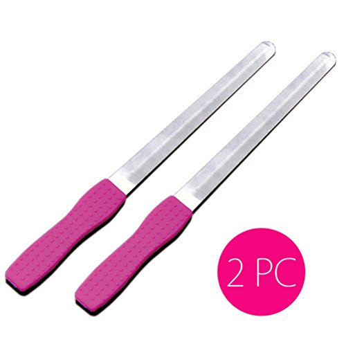 (New Dual Sided Stainless Steel Metal Nails Art File Manicure Pedicures Tool Nice)