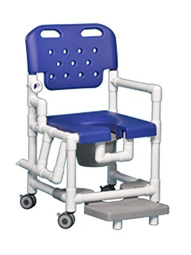 Elite Shower Chair Commode with Footrest and Right Drop Arm ELT817 P FRRDA (Blue)