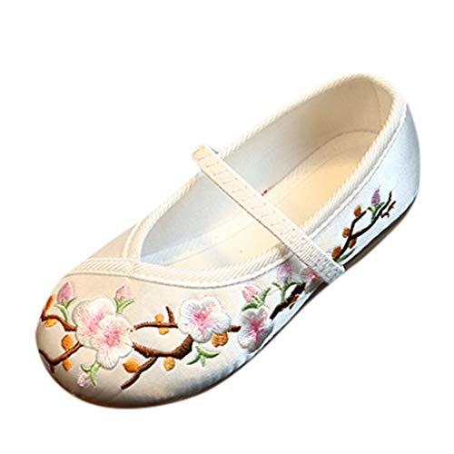 6a6d3130746 26 Zapatos Nacional Fiesta Niña Casual De Flor 35 Talla Bordado Tela  Princesa Blanco Estilo Htntv1rq