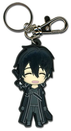 Great Eastern Entertainment Sword Art Online - Happy Kirito SD PVC - Pvc Sword Keychain