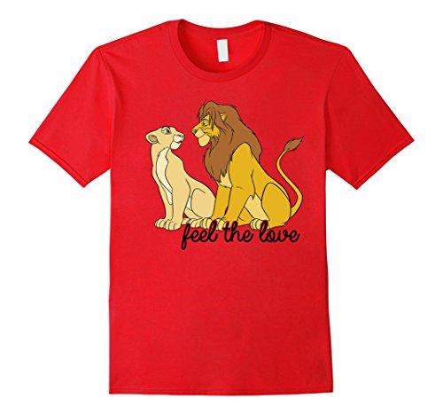 Disney Lion King Simba Nala Feel The Love Graphic T-Shirt