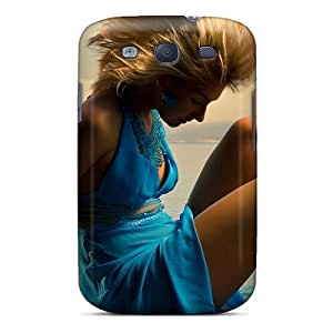 Awesome BfEPKZz18960wsIXv SandraTrinidad Defender Tpu Hard Case Cover For Galaxy S3- Girl In Blue Dress
