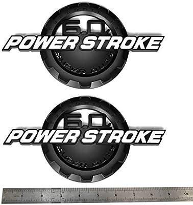 1 BLACK /& RED 05-07 F250 F350 F450 F550 6.0L POWER STROKE SUPERDUTY GRILL EMBLEM
