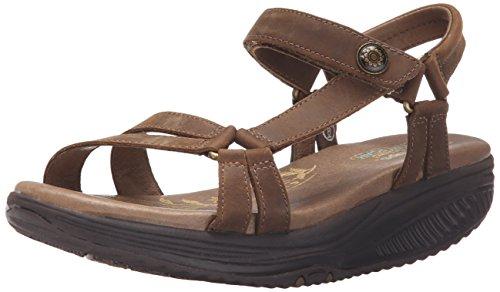 Tone Platform Sandals (Skechers Cali Women's Tone UPS-5 Platform Sandal, Brown, 7 M US)