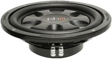 Powerbass S10TD 10-Inch Dual 4 Ohm Thin Subwoofer