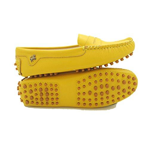 Goeao Donna Casual Luxury Leather Driving Mocassini Classici Slip-on Mocassini Scarpe Da Barca Flats Giallo
