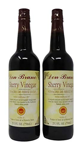 Don Bruno Sherry Wine Vinegar D.O.P Jerez - 25.35 Ounce 2 Pack