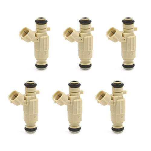 uxcell 6pcs Flow Matched Fuel Injector 35310-23600 for Hyundai Tucson 2.0L 2.7L