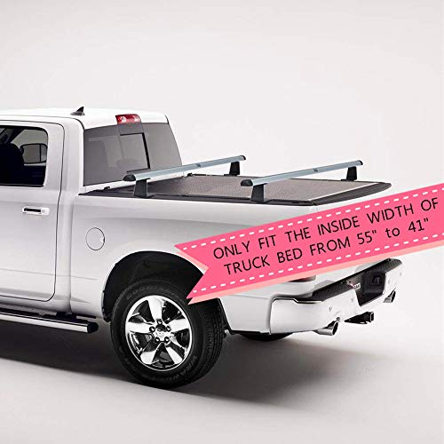 Kiussi Adjustable Aluminum Pick-Up Truck Bed Rack Works with Roll Up Tonneau Cover That Mount Inside The Bed Rails