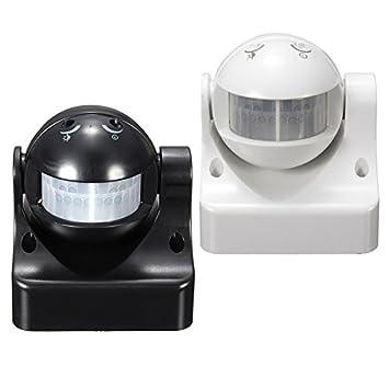 12M 180 grados de iluminación de seguridad del sensor del detector PIR Movimiento de movimiento infrarrojos