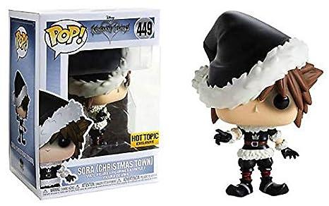 Amazon Com Funko Pop Kingdom Hearts Christmas Town Sora Exclusive