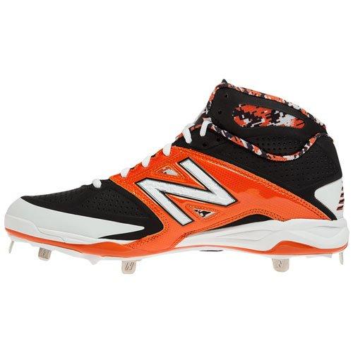 Nuovo Equilibrio Mens 4040v2 Mid Metal Tacchetti Da Baseball Nero / Arancione D 16