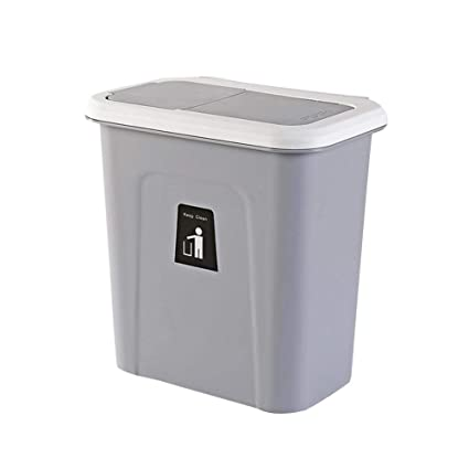 Amazon Com Kitchen Push Top Trash Can With Automatic Return Lid