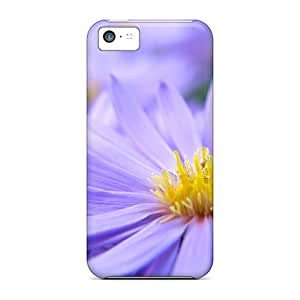 Hot Pretty Violett Flowers First Grade Tpu Phone Case For Iphone 5c Case Cover