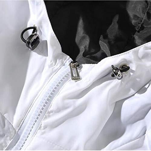 Giacca Autunno Cappotto Inverno Larga Cappuccio Abbigliamento Uomo Taglia Bianca Capi Sumtter 5xqIZ60I