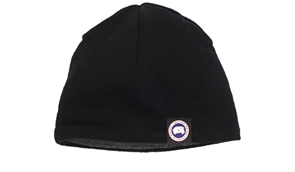 23e54e6005d0e7 Canada Goose Men's Merino Wool Beanie Hat Black One Size: Amazon.ca: Sports  & Outdoors