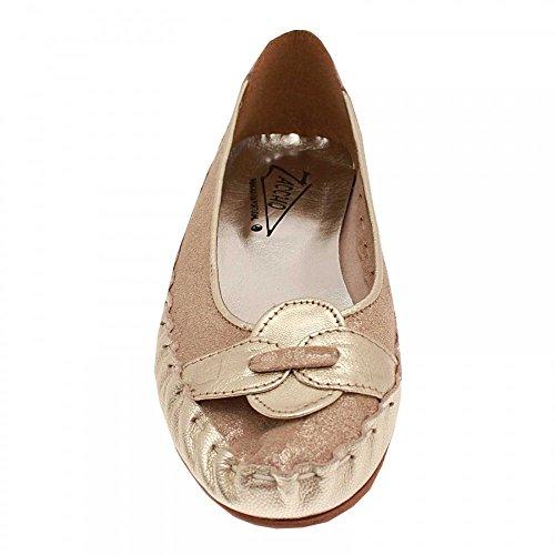 Leather Gold On Pump Soft Zaccho Ballet Slip q5FxwC