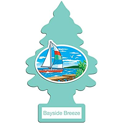 LITTLE TREES Car Air Freshener | Hanging Paper Tree for Home or Car | Bayside Breeze | 6 Pack: Automotive