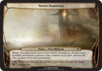 Magic: the Gathering - Norn's Dominion - Planechase 2012 Oversized Cards
