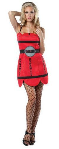 Rasta Imposta She's Dynamite, Red, Adult 4-10 - Shes Dynamite Costumes