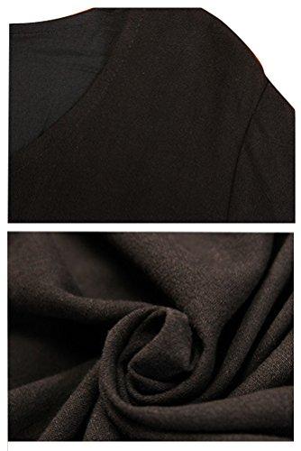 Voguees - Vestido - suéter - para mujer negro