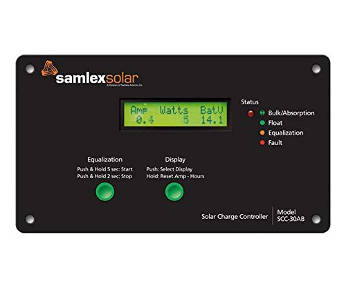 Samlex Flush Mount Solar Charge Controller - 30 Amp With Lcd Display by Samlex
