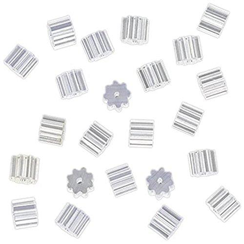 (Lavany 100 Piece Clear Clutch Earring Safety Backs For Fish Hook Earrings (Clear))