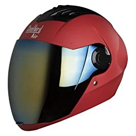 Steelbird Air SBA-2 Matt Sports Red with Golden Visor,600 mm