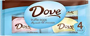 Dove Silky Smooth Truffle Eggs, Milk Chocolate, 3.6-Ounce Packages (Pack of 6)