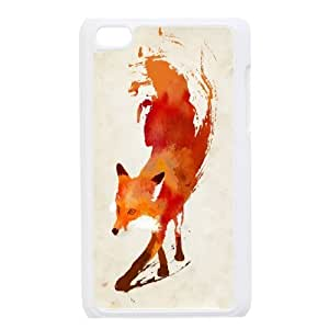 High quality Cute animal tiger protective case cover FOR IPod Touch 4 i-uit-S4239
