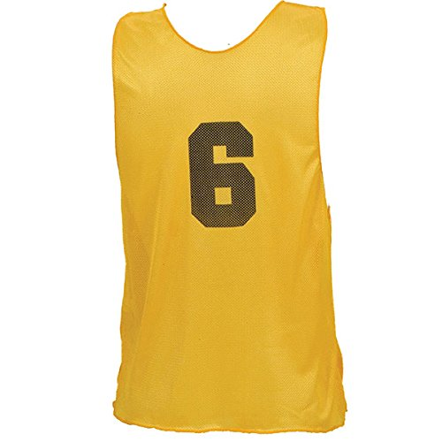 Champion Sports Numbered Adult Practice Vest, Yellow (1 Dozen) Champion Sports Apparel