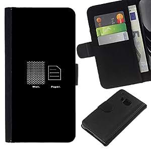 // PHONE CASE GIFT // Moda Estuche Funda de Cuero Billetera Tarjeta de crédito dinero bolsa Cubierta de proteccion Caso HTC One M7 / Wall Paper - Funny /