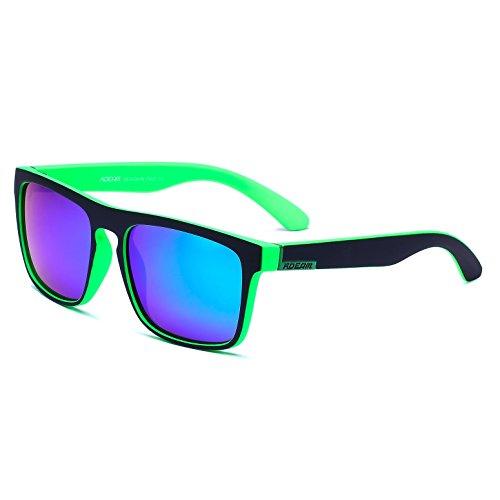 KDEAM Frame Gafas Lens sol Green hombre Black Mirror de para pAqYpr
