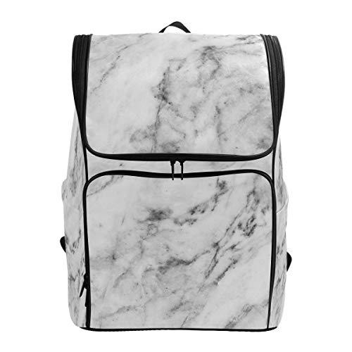 1c7317ea1657 Naanle 3D White Marble Print Casual Daypack College School Multipurpose  Backpack Large Travel Hiking Bags for Men Women,Waterproof Computer Bag