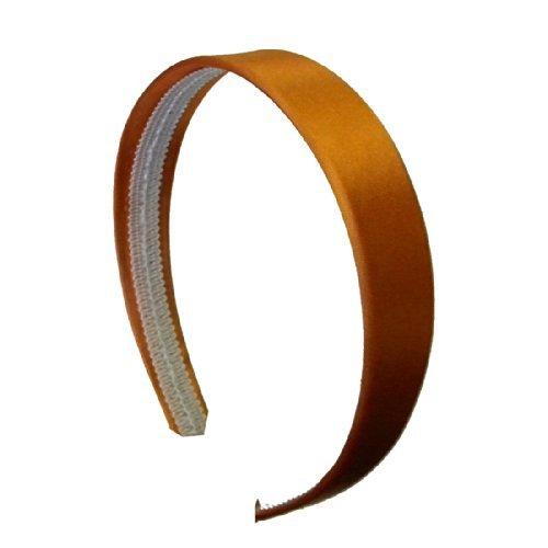 Orange 1 Inch Satin Hard Headband by Motique Accessories by Motique Accessories