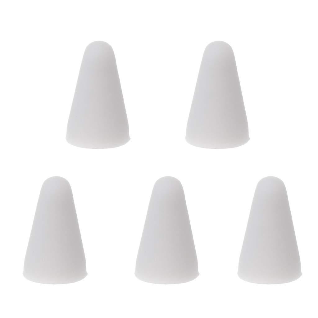 Blanco siwetg 5 unids Mute Funda de Punta de Repuesto de Silicona Piel Cubierta para Apple L/ápiz 1st 2nd Stylus Touchscreen Pen