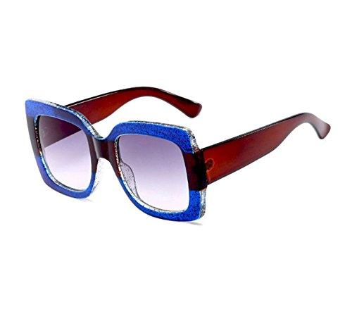 pour soleil et Brun Huateng Bleu de hommes et femmes polarisées polarisées non Lunettes rétro zEx0nxq1Sw