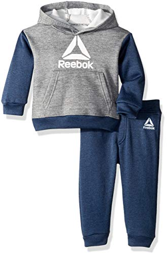 (Reebok Baby Boys Play to Win Pullover Fleece Hoodie and Jog Pant, Bright Navy)