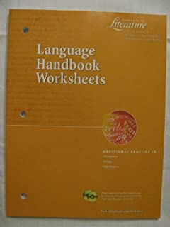 Printables Language Handbook Worksheets Answer Key Online language handbook worksheets answer key elements of literature fifth course grade 11