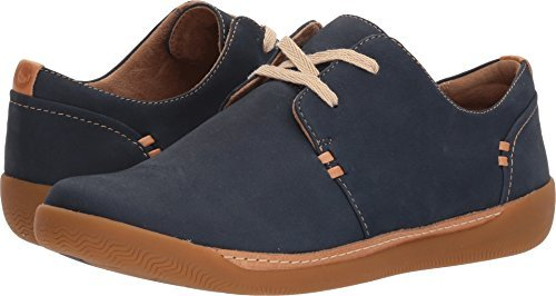 CLARKS Women's Un Haven Lace Navy Nubuck 7.5 B US