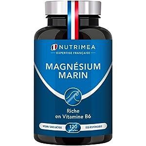 Magnésium Marin et Vitamine B6   Jusqu'à 300 mg/jour   120 gélules d'origine végétales jusqu'à 4 mois de cure   Combat…