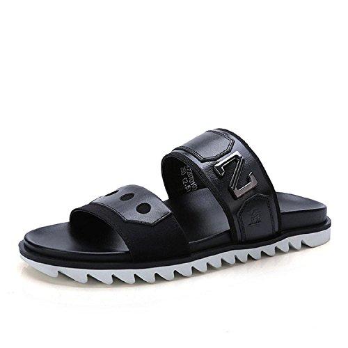 Camel Mens Casual Flip Flop Platform Footbed Sandals Black