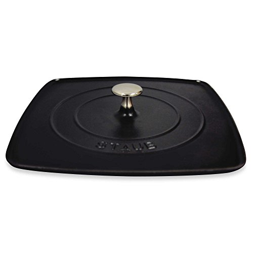 Grill Press, 12-inch Cast Iron Highly Chip-Resistant - Retains and Transfers Heat Evenly by Staub Cast