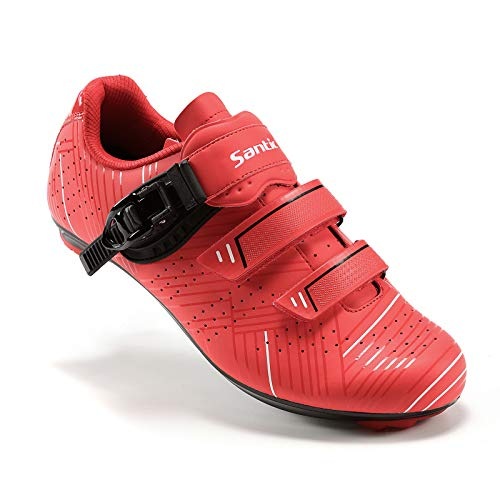 Santic Cycling Shoes Road Cycling Riding Shoes Road Bike Shoes with Buckle- Roadway