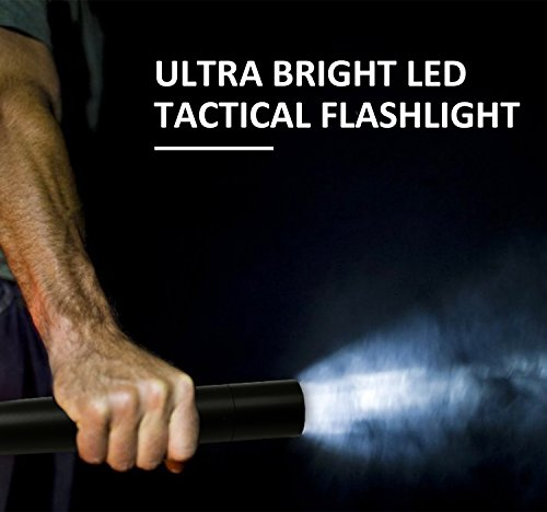 Tactical Flashlight Best Torch, Winbtek Cool Black Brightest Led Flashlight, 2000 Lumens, 3 Light Modes for Camping, Hiking, Inspection, Work, Repair and Emergency Use by Winbtek (Image #7)