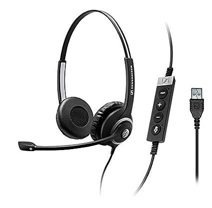 Sennheiser SC 260 USB Ctrl II Binaural Diadema Negro - Auriculares con micrófono (Centro de